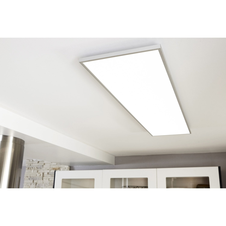 panneau led int gr e gdansk inspire 120 x 30 cm 48 w blanc chaud froid leroy merlin. Black Bedroom Furniture Sets. Home Design Ideas