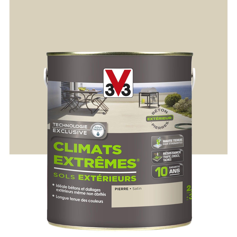 Peinture sol ext rieur climats extr mes v33 pierre 2 5 l - Peinture sol beton exterieur antiderapant ...