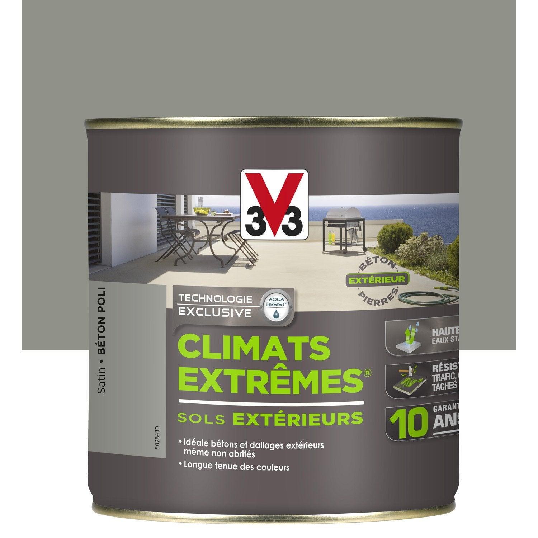 peinture sol extérieur climats extrêmes v33, béton poli, 2.5l ... - Peindre Une Dalle En Beton Exterieur