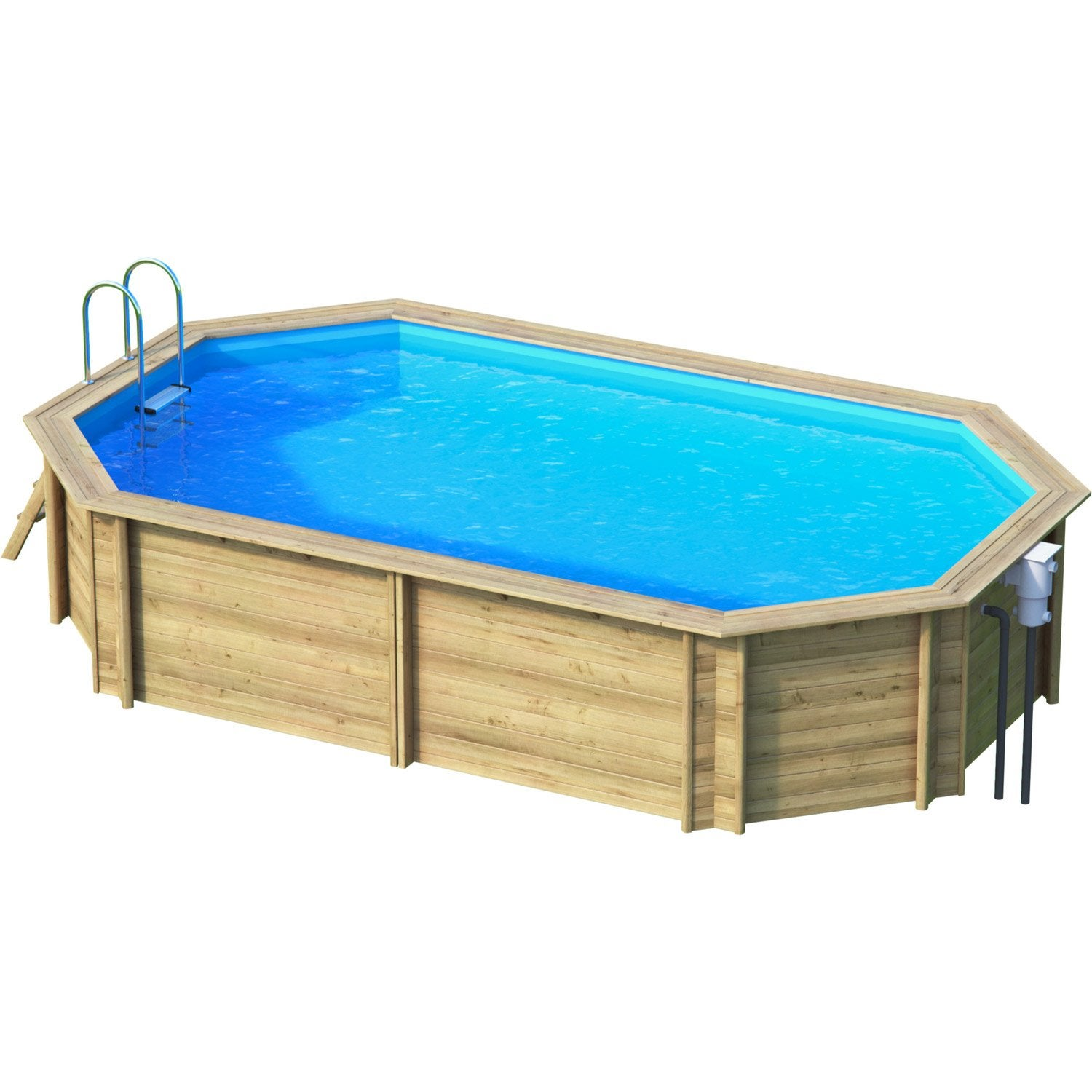 Piscine hors sol bois weva proswell by procopi l 6 4 x l for Piscine hors sol tubulaire amazon