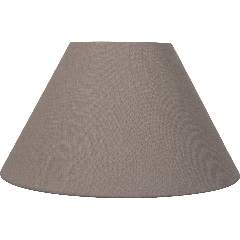 abat jour sweet 50 cm toiline brun taupe n 3 inspire leroy merlin. Black Bedroom Furniture Sets. Home Design Ideas