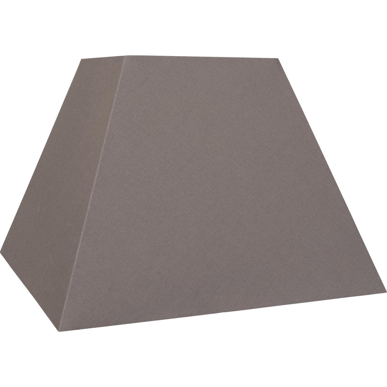 abat jour loft 42 cm toiline brun taupe n 3 inspire leroy merlin. Black Bedroom Furniture Sets. Home Design Ideas