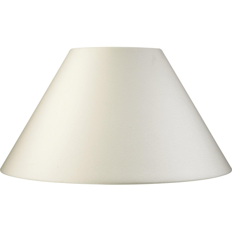 Abat jour sweet 45 cm toiline blanc ivoire n 3 inspire for Lampe de chevet castorama