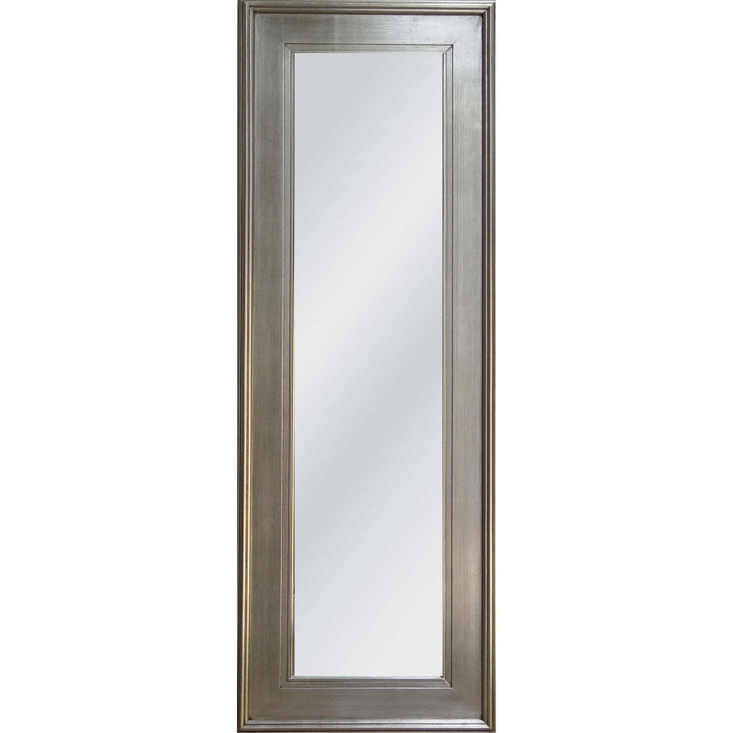 Miroir tisbury rectangle argent 50x140 cm leroy merlin for Miroir 140 cm
