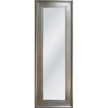 Miroir tisbury rectangle argent 50x140 cm leroy merlin for Grand miroir leroy merlin