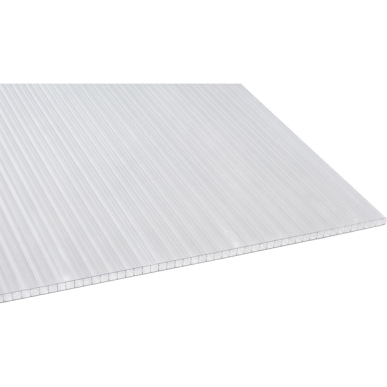 Plaque polycarbonate alv olaire 16mm clair 3 x sunclear leroy merlin - Plaque polycarbonate 32 mm leroy merlin ...