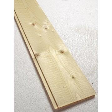 lambris bois pic a rabot petits noeuds l 205 x l leroy merlin. Black Bedroom Furniture Sets. Home Design Ideas