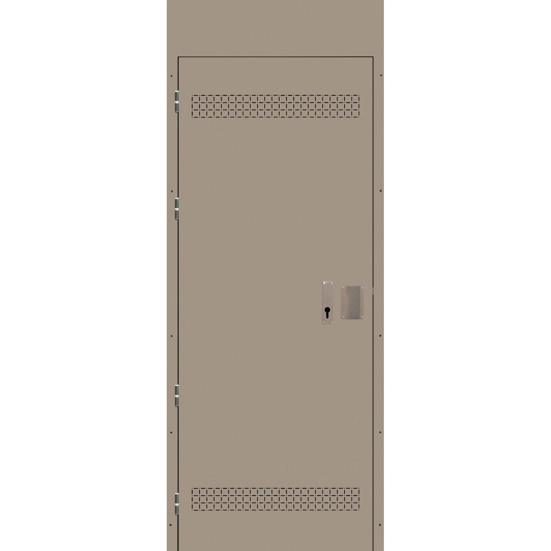 Porte de service acier stabicave r versible gauche for Porte de service leroy merlin