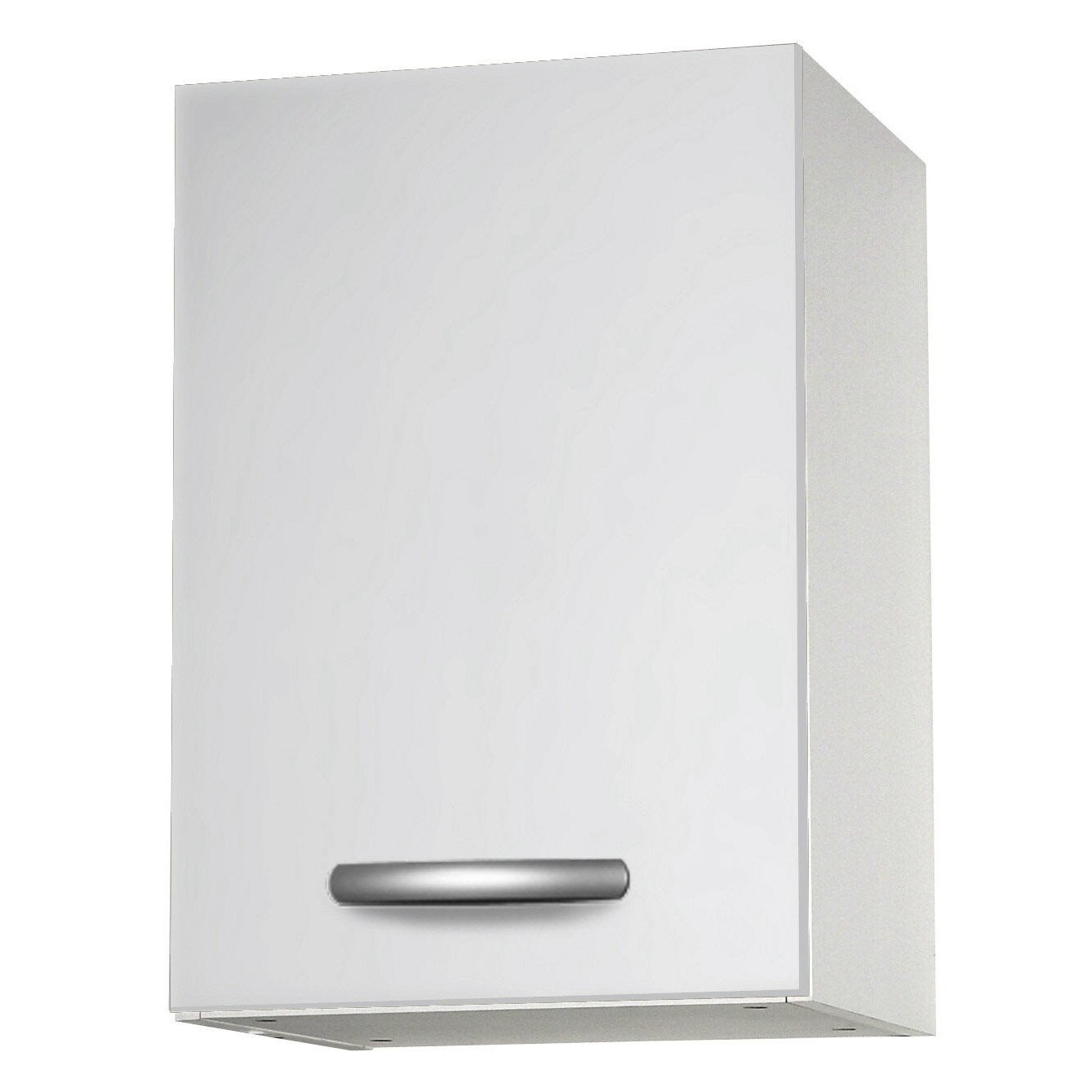 Meuble de cuisine haut 1 porte blanc l40x for Portes elements cuisine leroy merlin