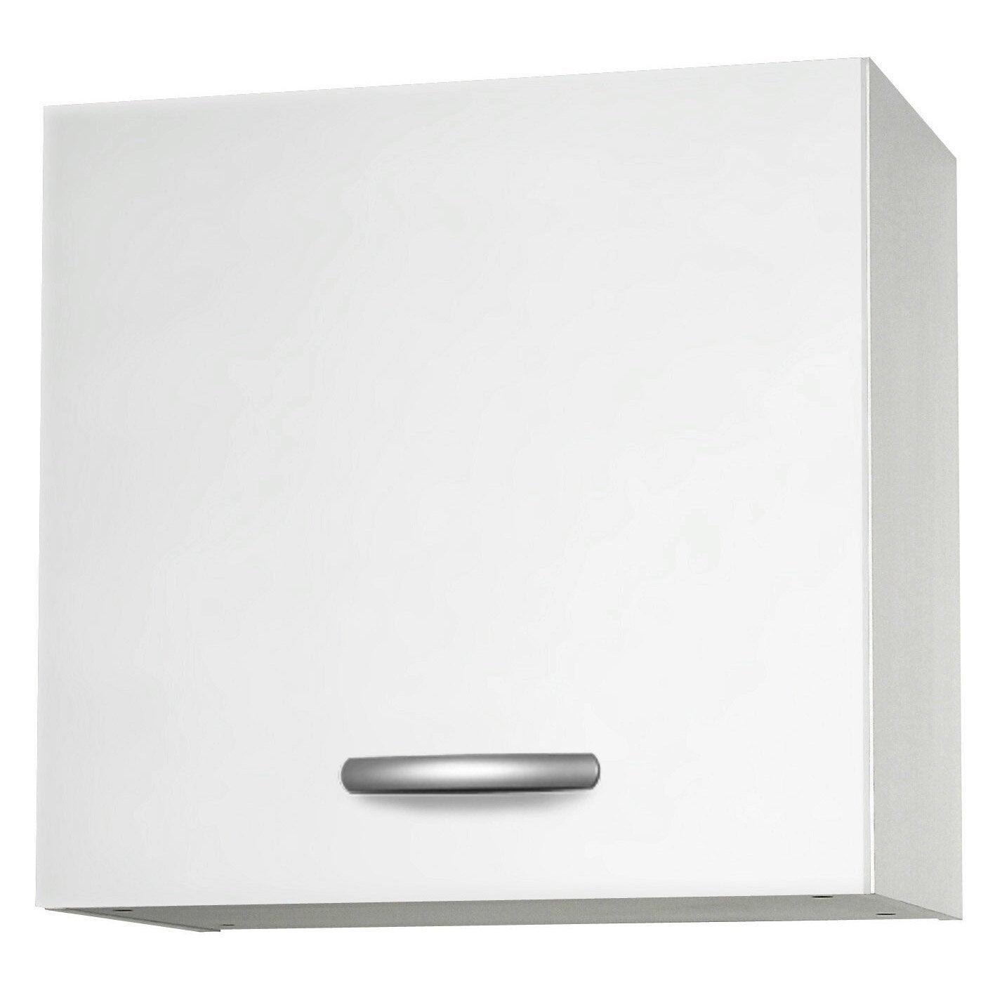 Meuble de cuisine haut 1 porte blanc l60x for Leroy merlin porte cuisine