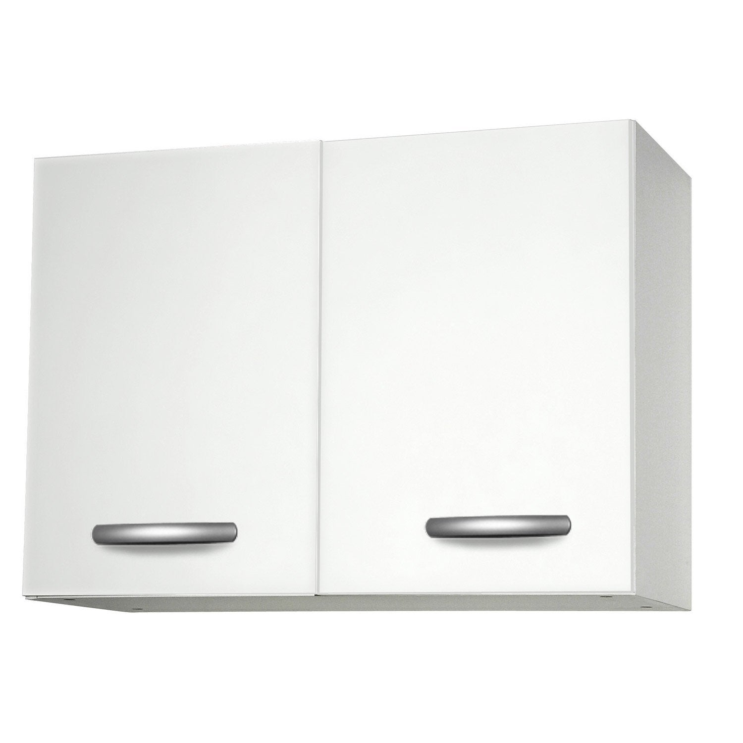 Meuble de cuisine haut 2 portes blanc l80x p35 for Portes elements cuisine leroy merlin