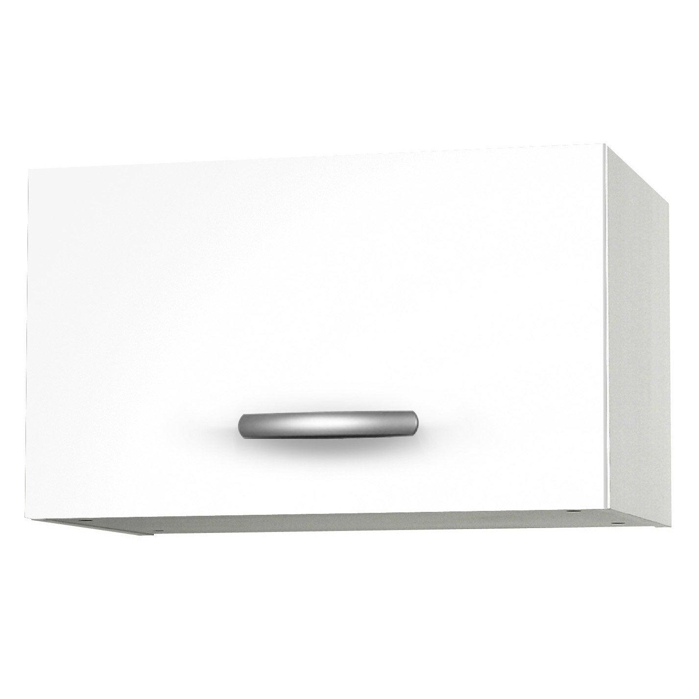 Meuble de cuisine haut 1 porte spring l60xh35xp35cm blanc for Meuble cuisine haut leroy merlin
