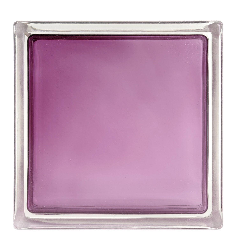 brique de verre standard lisse brillante violet aubergine. Black Bedroom Furniture Sets. Home Design Ideas