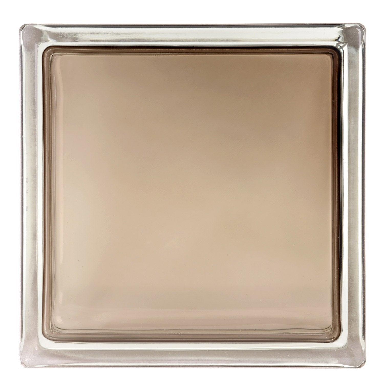 Brique de verre brun lisse brillant leroy merlin - Toile de verre lisse leroy merlin ...