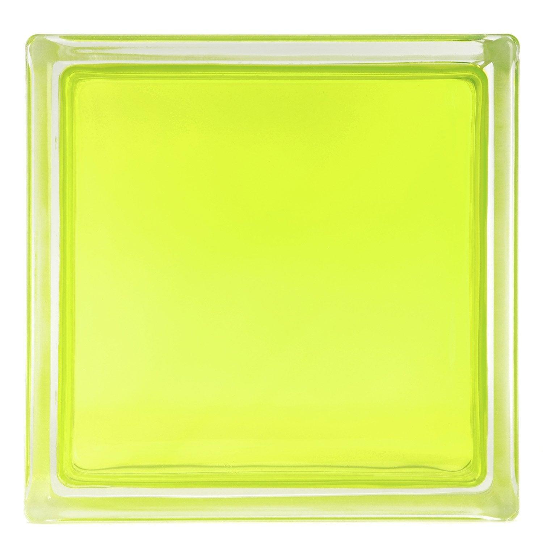 brique de verre vert lisse brillant leroy merlin. Black Bedroom Furniture Sets. Home Design Ideas
