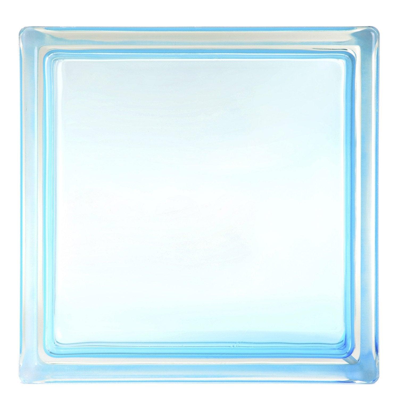 Brique de verre bleu lisse brillant leroy merlin - Toile de verre lisse leroy merlin ...