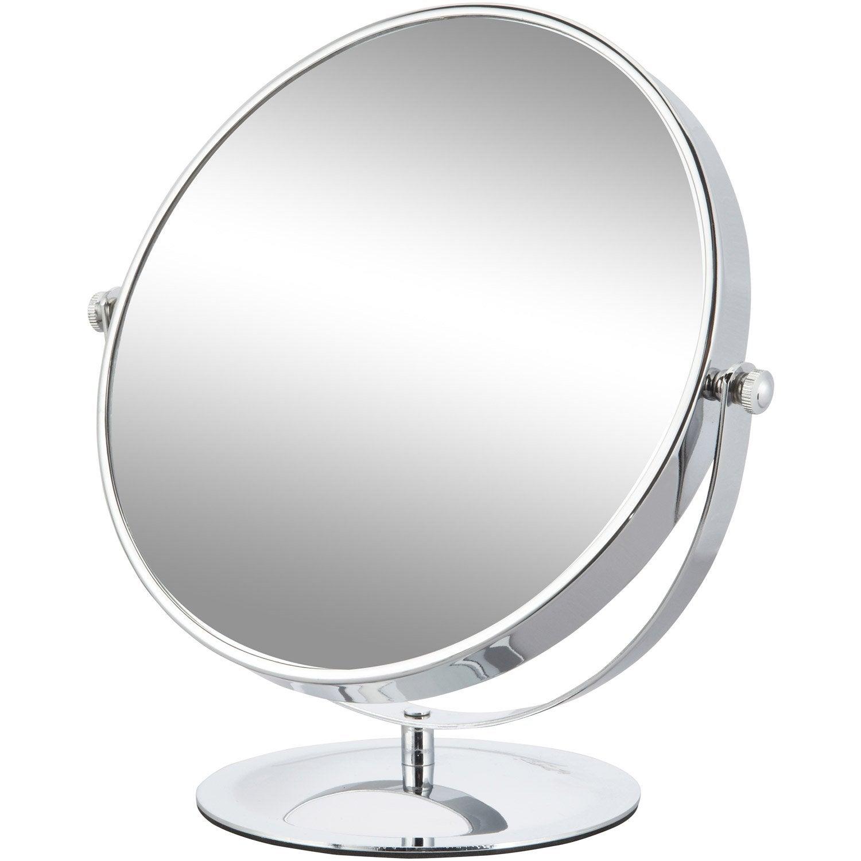 Miroir grossissant carla 23 2 x 21 9 cm leroy merlin for Miroir trumeau leroy merlin