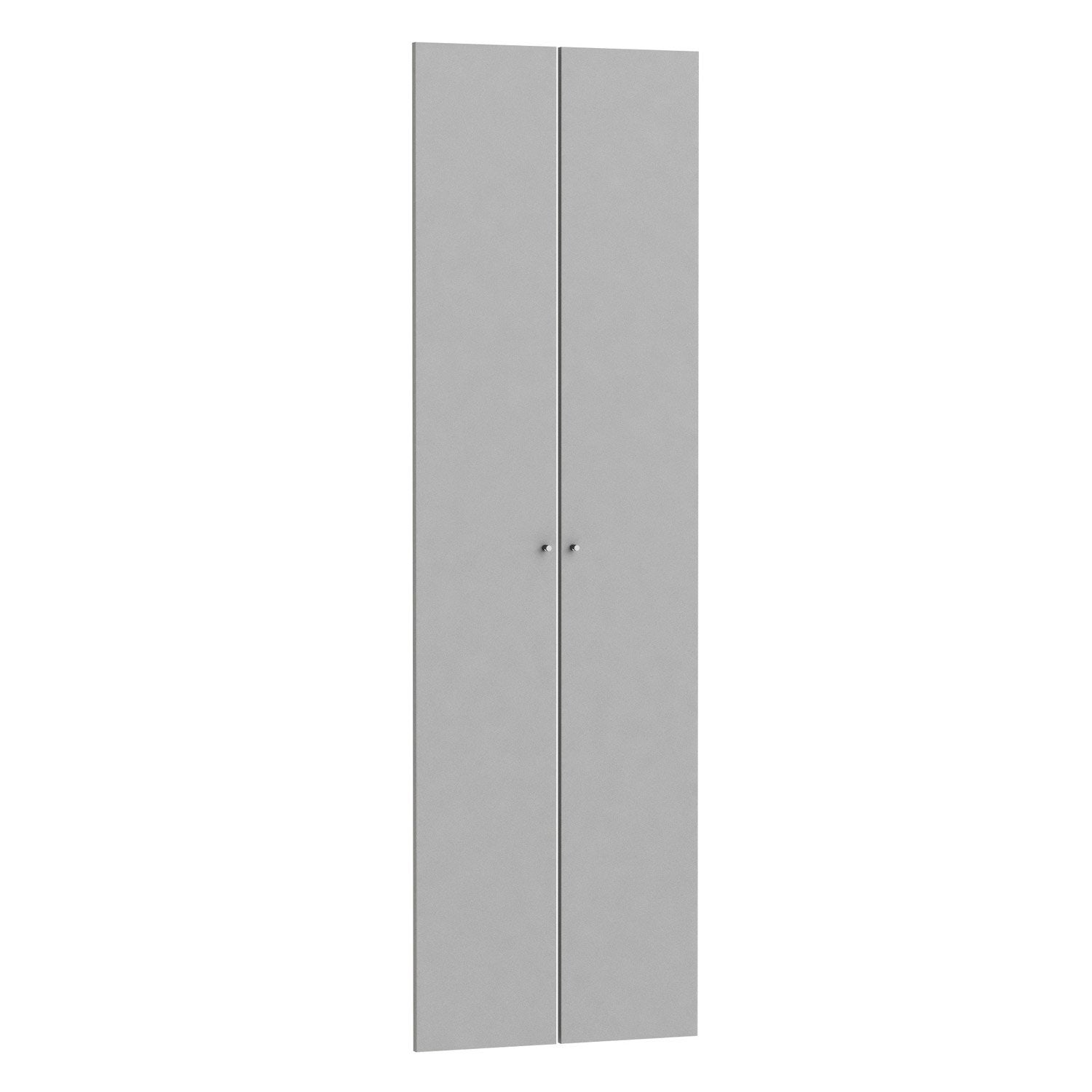 Lot de 2 portes battantes spaceo home 200 x 30 x 1 6 cm for Porte pliante 60 pouces