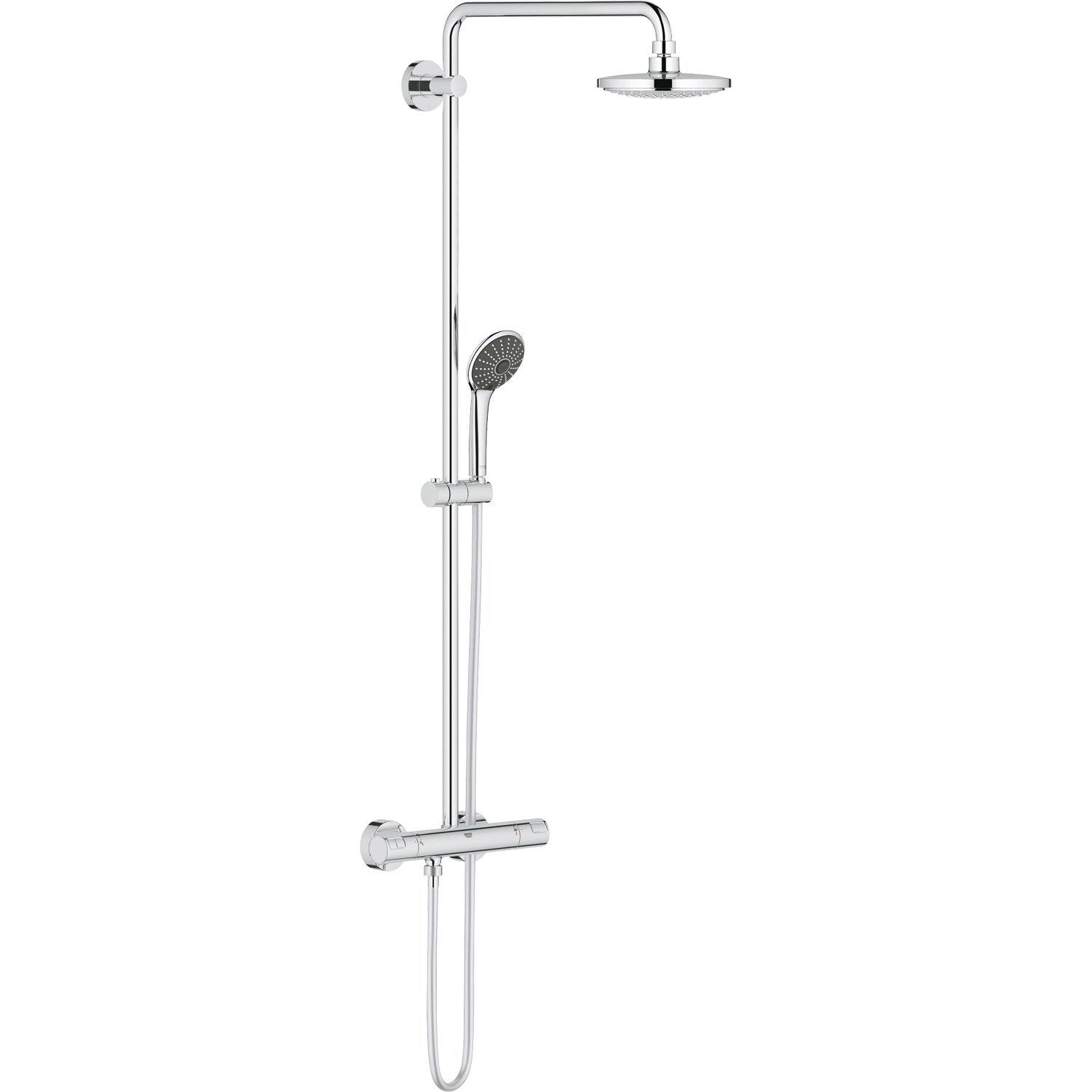 colonne de douche avec robinetterie grohe vitalio system leroy merlin. Black Bedroom Furniture Sets. Home Design Ideas