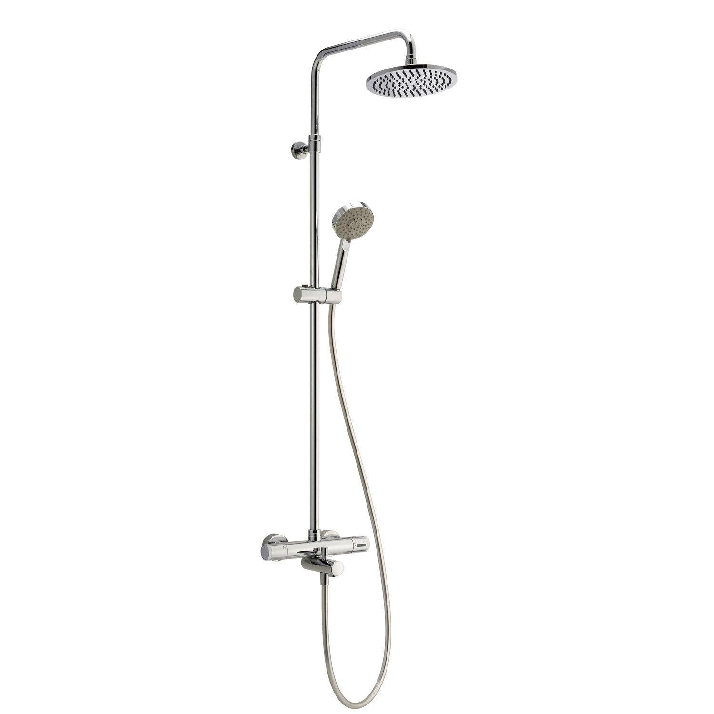 Colonne de douche et bain avec robinetterie sensea siryo leroy merlin - Colonne bain douche thermostatique ...