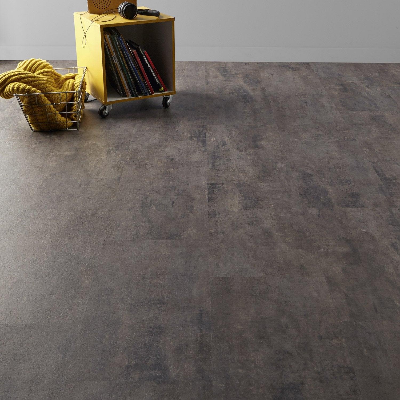 dalle pvc flash clic deep grey 60 x 30 7 cm leroy merlin. Black Bedroom Furniture Sets. Home Design Ideas