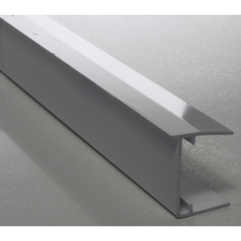 profil obturateur pour plaque ep 32 mm aluminium l m leroy merlin. Black Bedroom Furniture Sets. Home Design Ideas