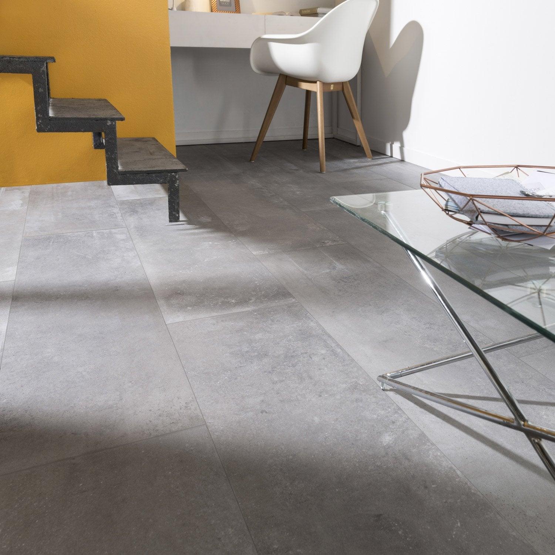 carrelage sol et mur anthracite effet b ton harlem x cm leroy merlin. Black Bedroom Furniture Sets. Home Design Ideas