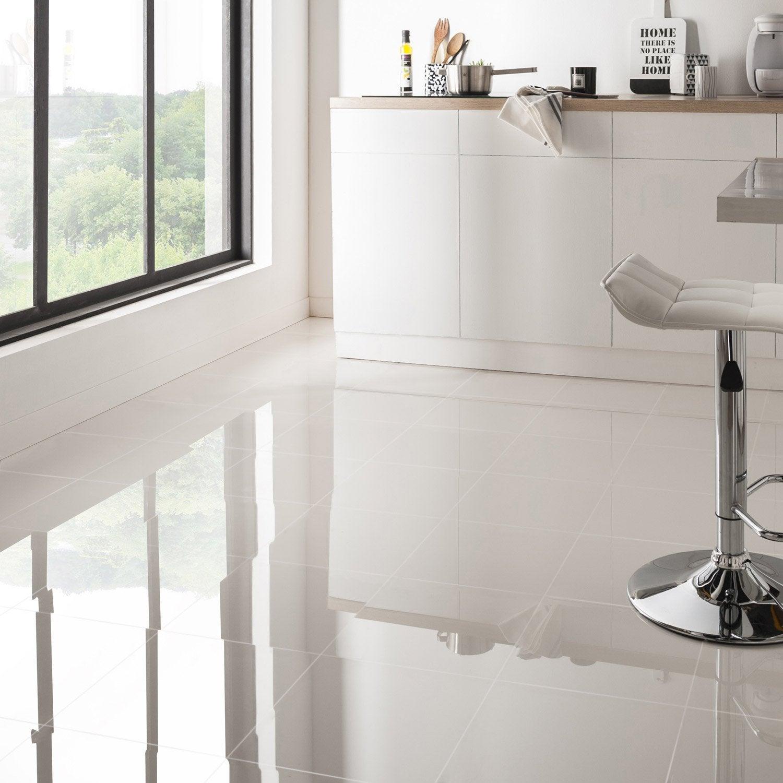 beautiful carrelage sol blanc brillant ideas ridgewayng ForCarrelage 60x60 Brillant
