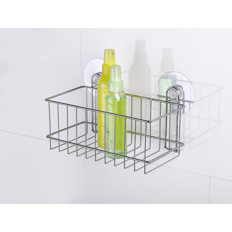 panier de bain douche lectrostatique chrom static. Black Bedroom Furniture Sets. Home Design Ideas