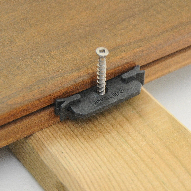 lot de 100 clips vis 100 clips universel vis inox pour. Black Bedroom Furniture Sets. Home Design Ideas