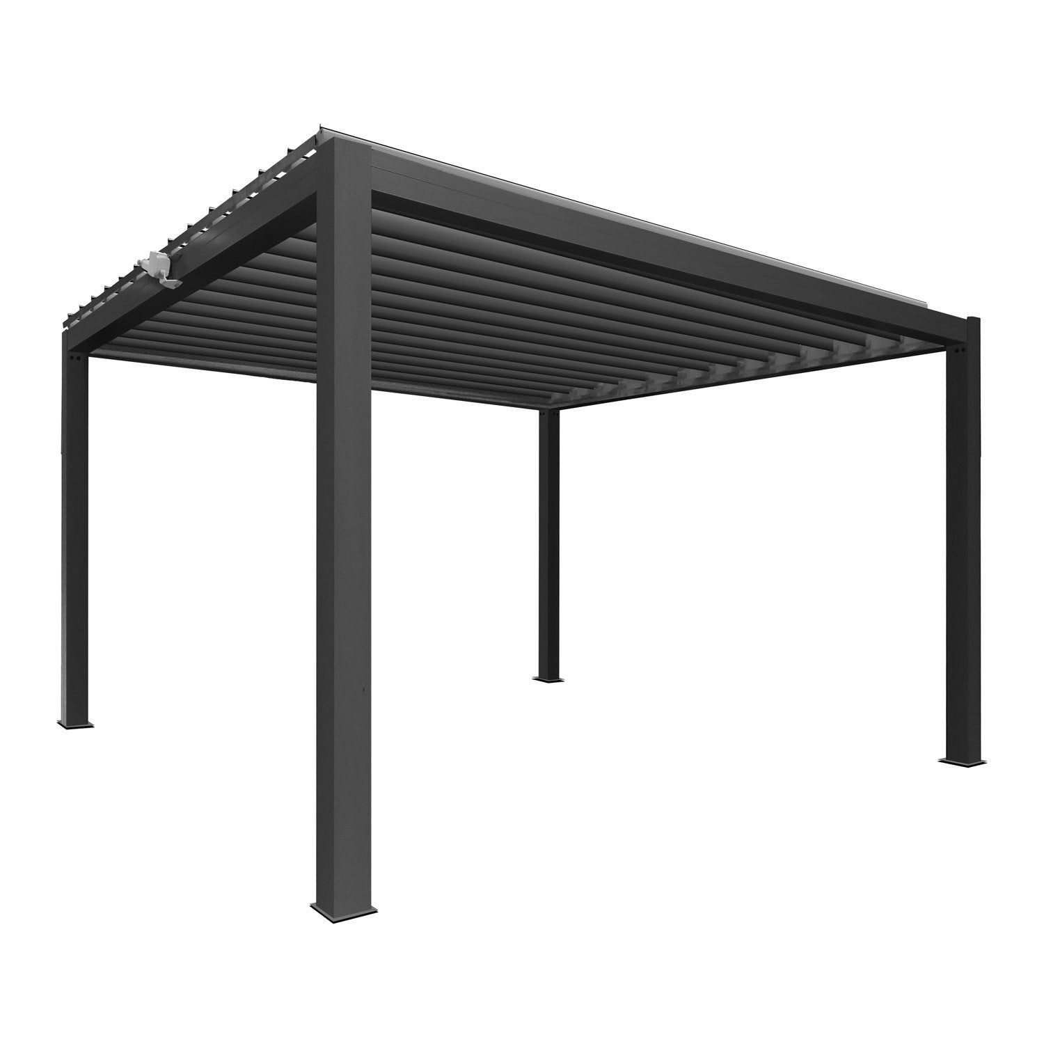 pergola autoportante aluminium gris anthracite 12 m leroy merlin. Black Bedroom Furniture Sets. Home Design Ideas