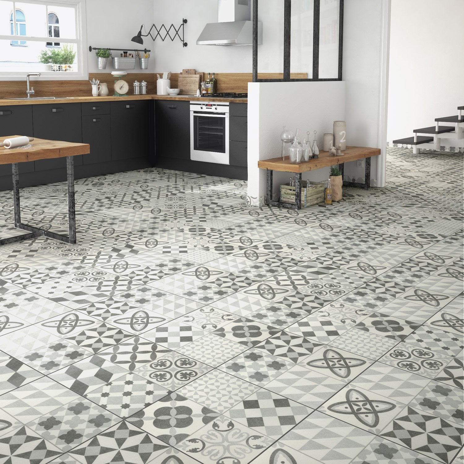 Carrelage leroy merlin gris maison design for Carrelage ciment