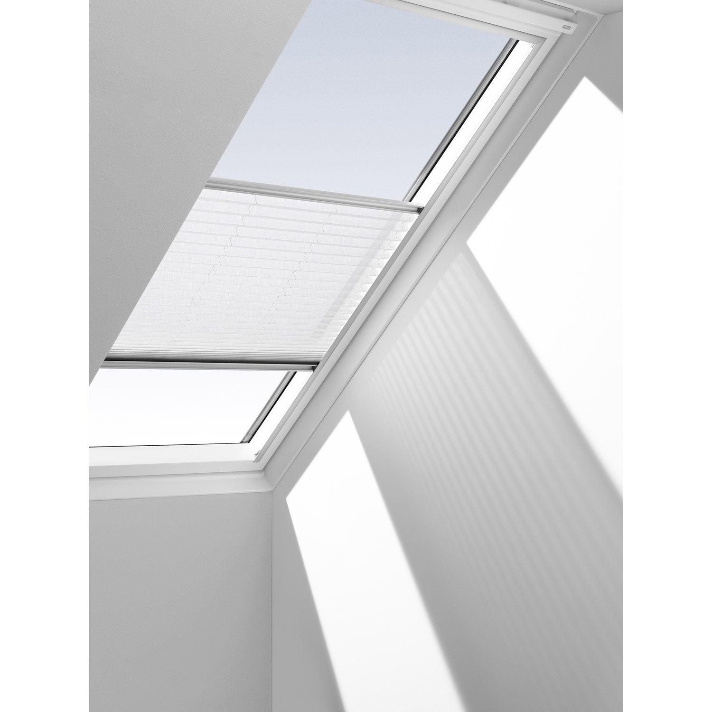 store fen tre de toit rideau ecru velux rhl 100 leroy merlin. Black Bedroom Furniture Sets. Home Design Ideas