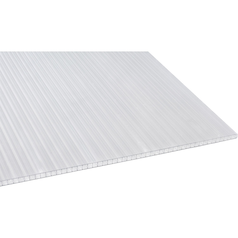Plaque polycarbonate alv olaire 16mm clair 4 x sunclear leroy merlin - Plaques polycarbonate leroy merlin ...