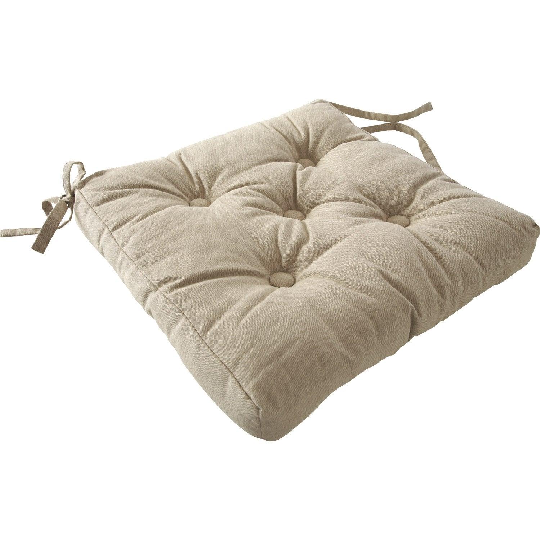 galette de chaise cl a gris dor n 6 40 x 40 cm leroy merlin. Black Bedroom Furniture Sets. Home Design Ideas