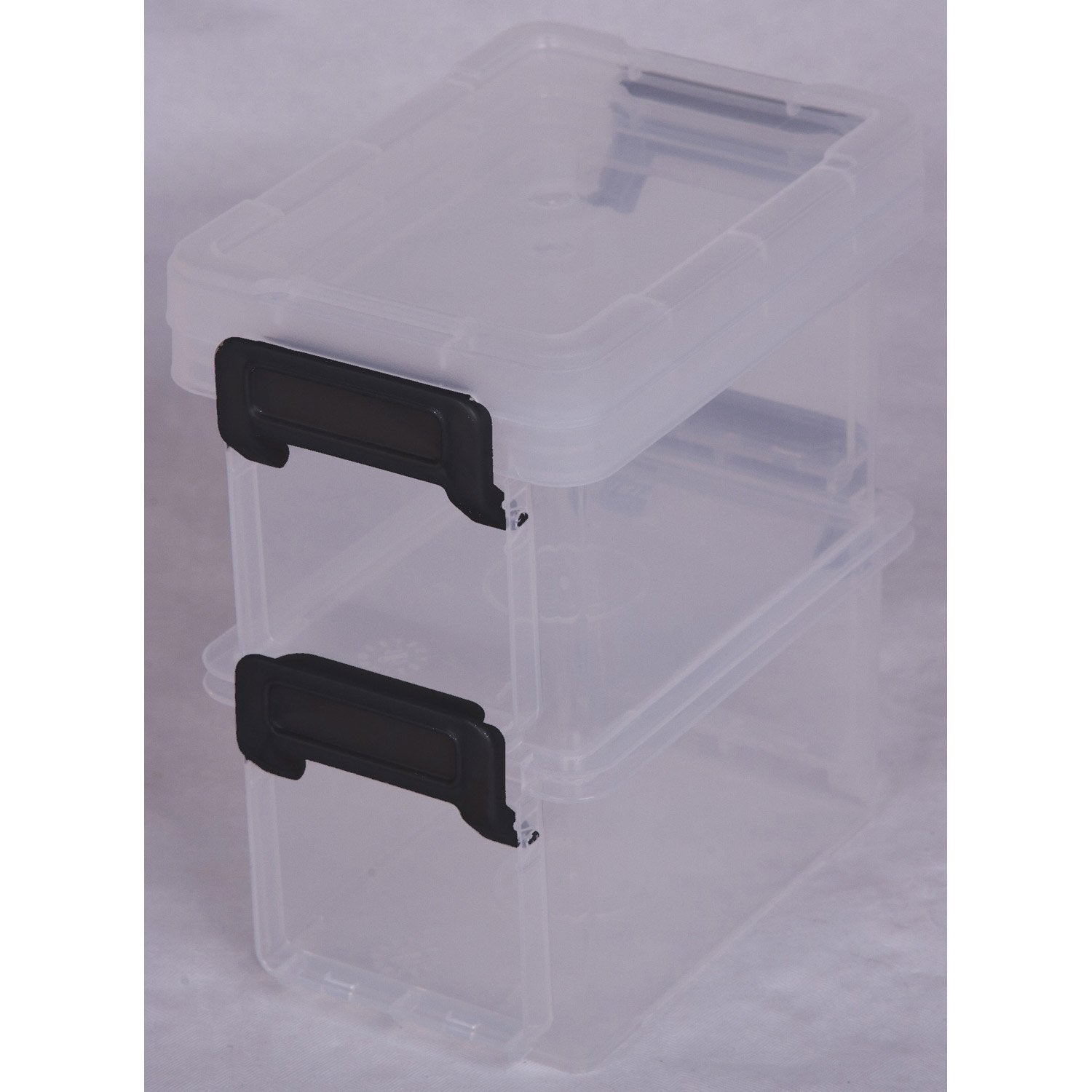 bo te de rangement little box en plastique l 8 2 x p 12 2 x h 7 cm 0 3 l leroy merlin. Black Bedroom Furniture Sets. Home Design Ideas