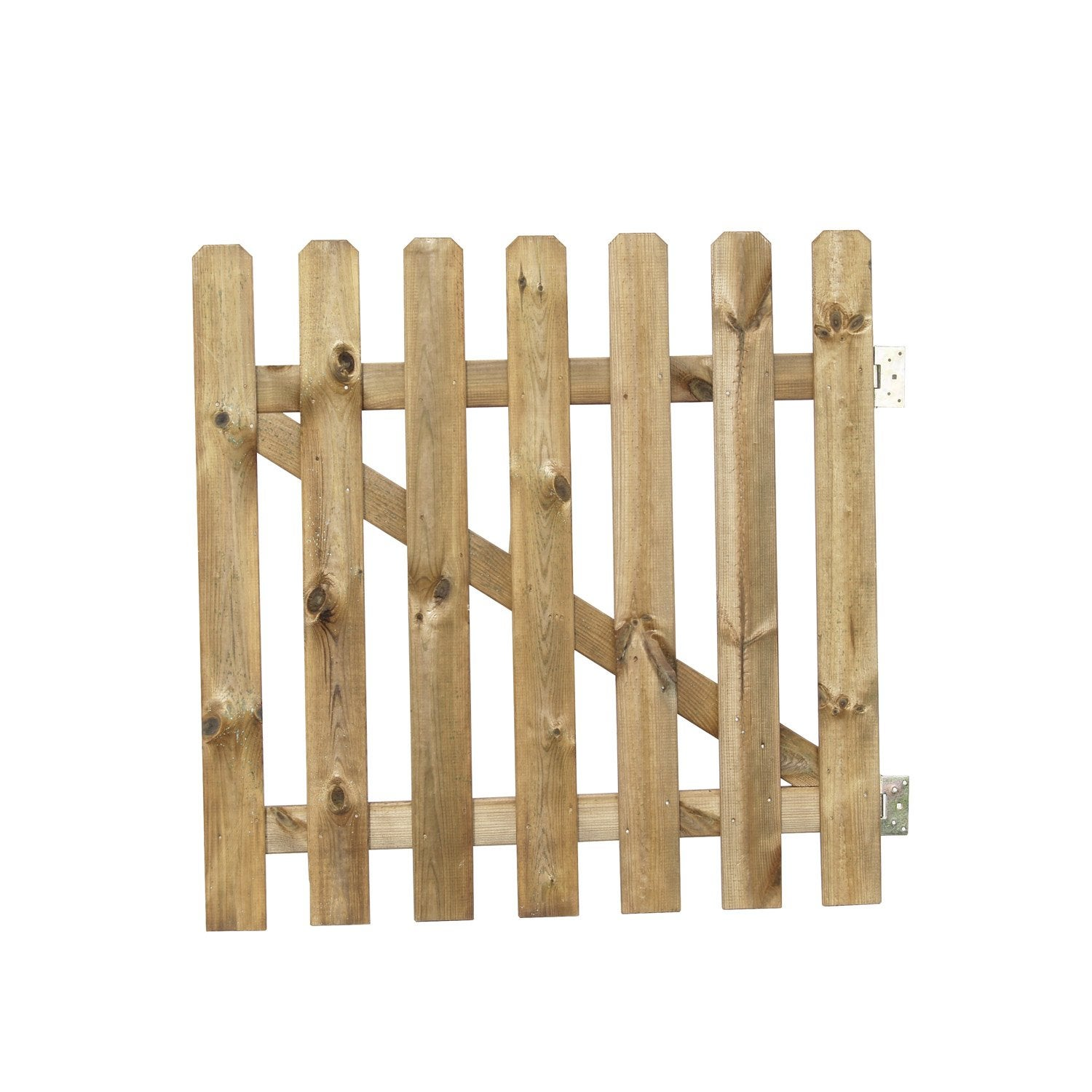 Portillon battant en bois merens x cm leroy for Barriere bois exterieur