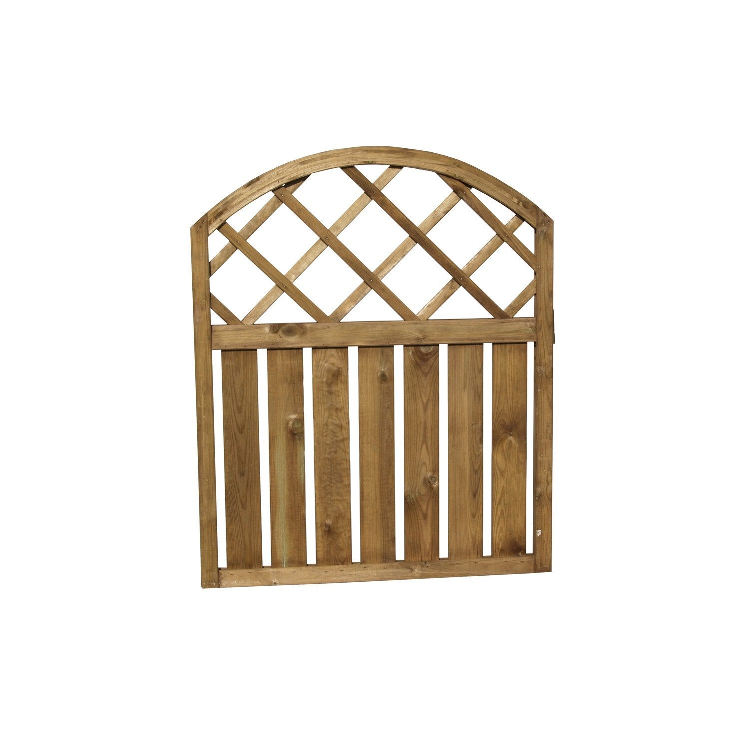 Portillon battant pinto marron leroy merlin for Portillon de jardin pvc