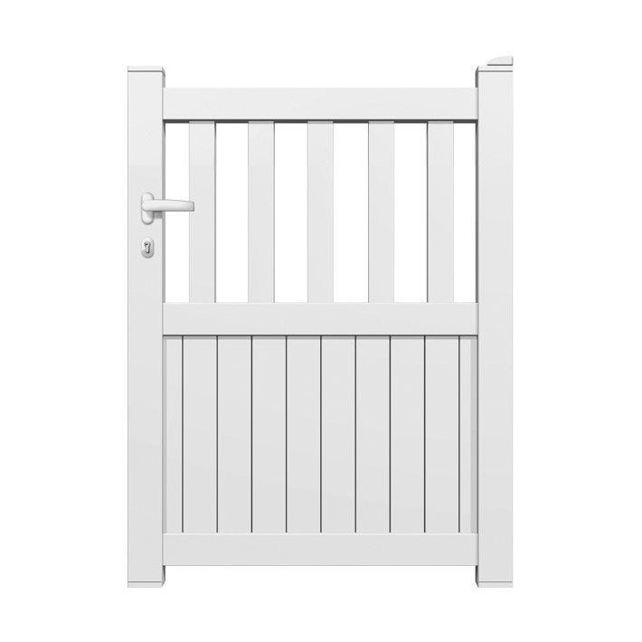Portillon alu florenca blanc leroy merlin for Portillon pas cher pvc