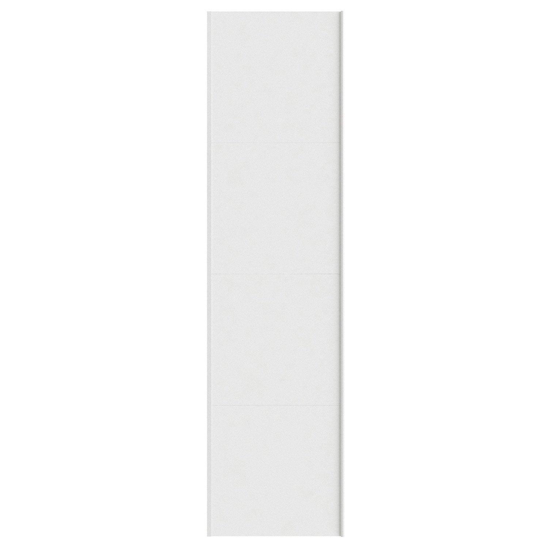 Portes coulissantes spaceo home 240 x 60 x 1 6 cm blanc - Porte coulissante 60 cm ...