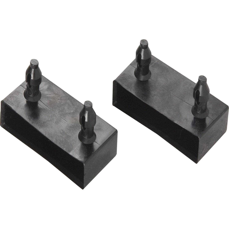 Lots de 2 embouts pvc x 8mm l 8 cm leroy merlin - Lattes pour clic clac ...