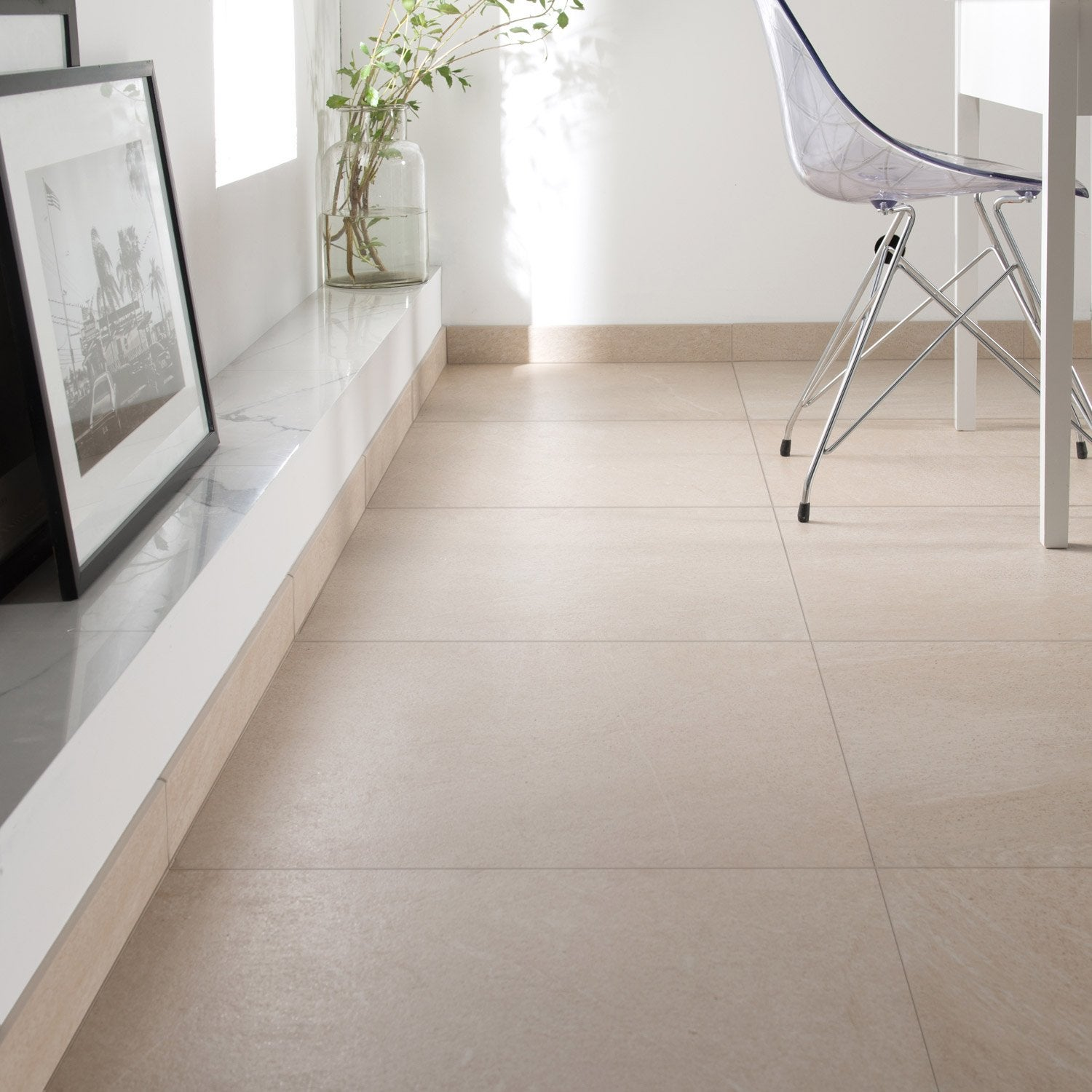 Carrelage sol et mur beige effet pierre milano x for Carrelage spot point p