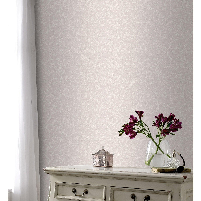 papier peint intiss luzerne rose leroy merlin. Black Bedroom Furniture Sets. Home Design Ideas
