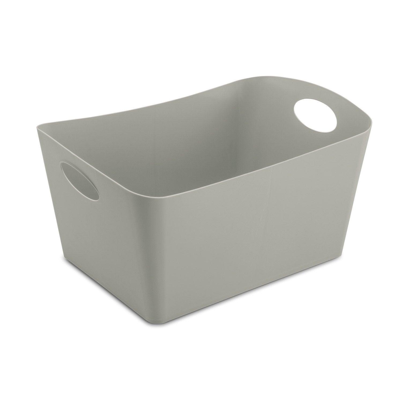 bo te de rangement nomade en plastique gris gris n 1 boxxx leroy merlin. Black Bedroom Furniture Sets. Home Design Ideas