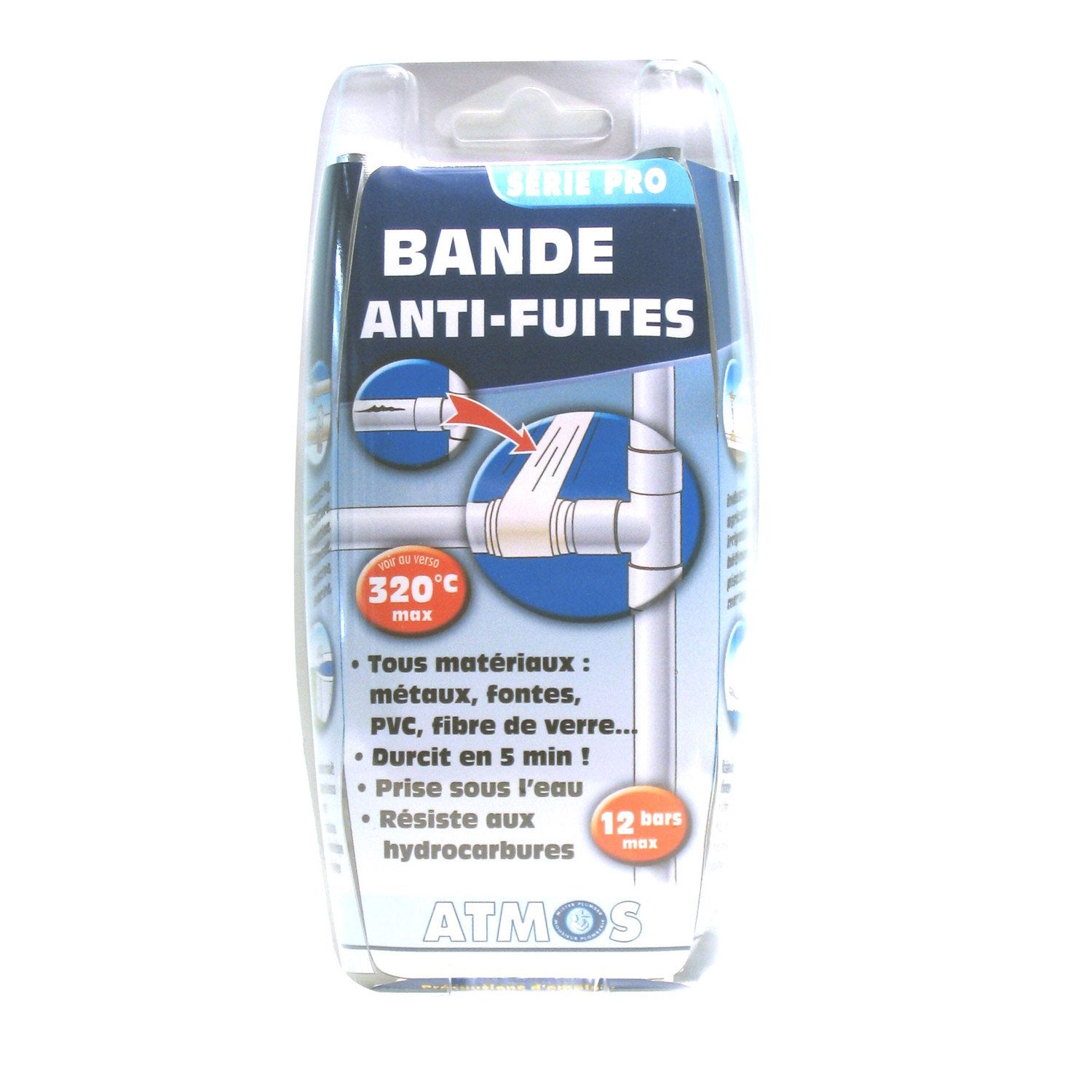 Bande antifuite sp cial tuyauterie atmos leroy merlin for Anti fuite piscine