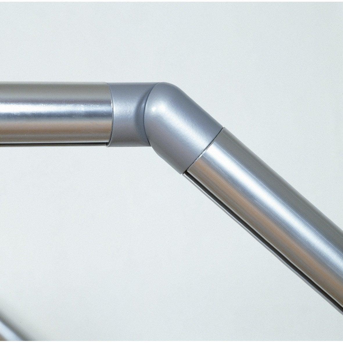 articulation aluminium gris pour main courante obapi. Black Bedroom Furniture Sets. Home Design Ideas