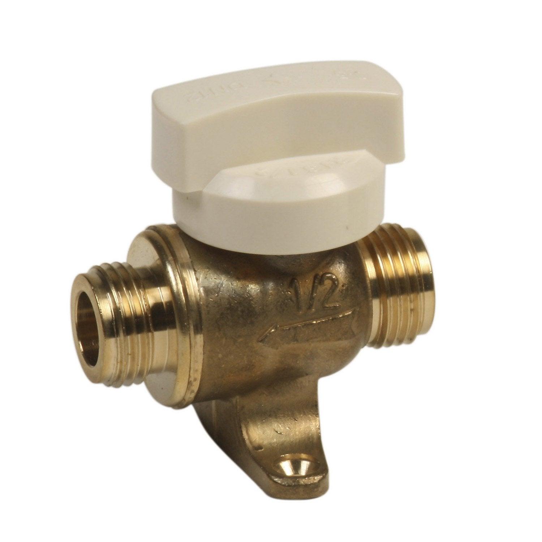 Robinet d 39 arr t 1 2 de tour gaz naturel m le gazinox 15 x for Changer un robinet exterieur