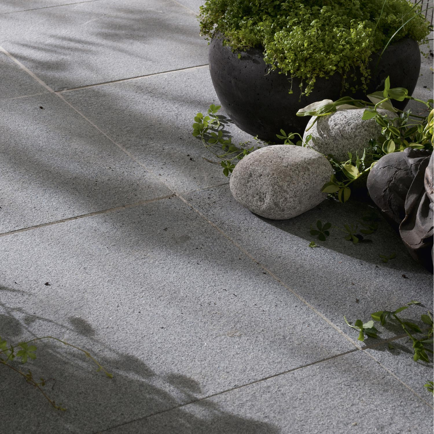 Dalle pepperino granit gris nuanc mm x x l for Terrasse en granit