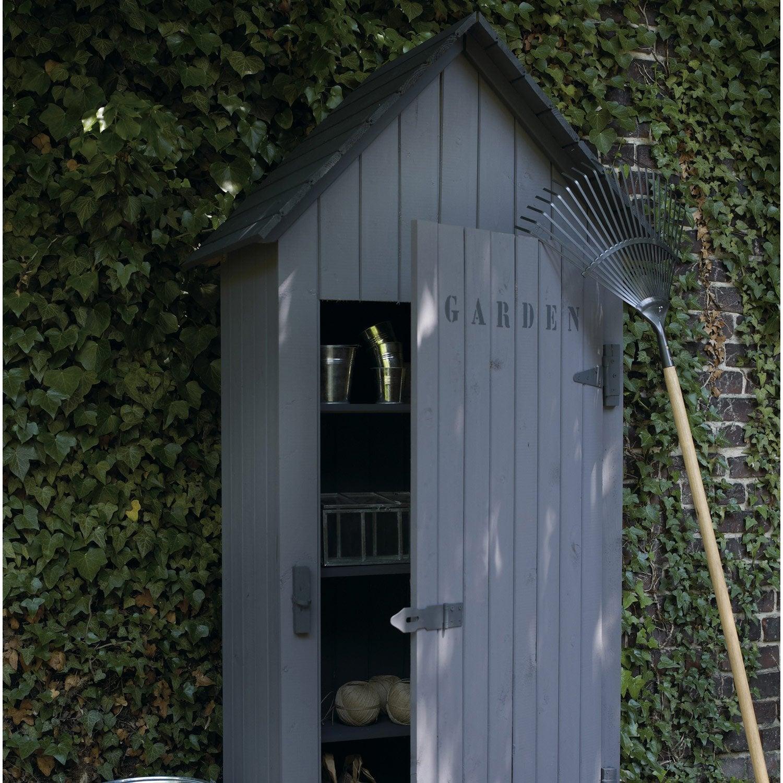 Armoire de jardin bois wissant naturelle x x p for Porte en acier pour cabanon