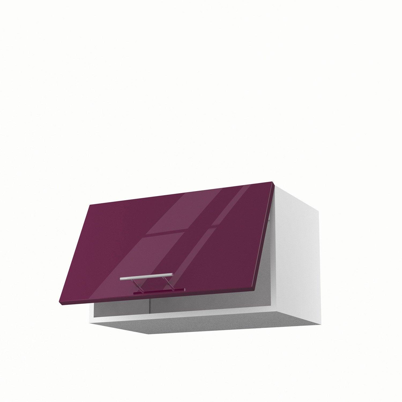 Meuble de cuisine haut violet 1 porte rio x x p for Meuble cuisine violet